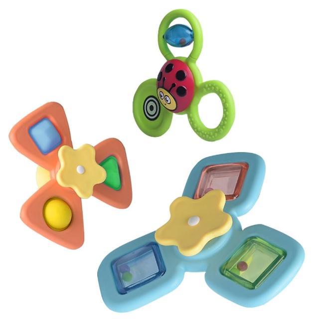 【JoyNa】早教玩具 3入吸盤轉轉樂 KOTY嬰兒啟蒙玩具