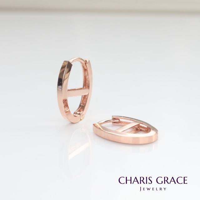 【CHARIS & GRACE 佳立思珠寶】14K Ellipse Lock Earring 橢圓槓耳扣耳環