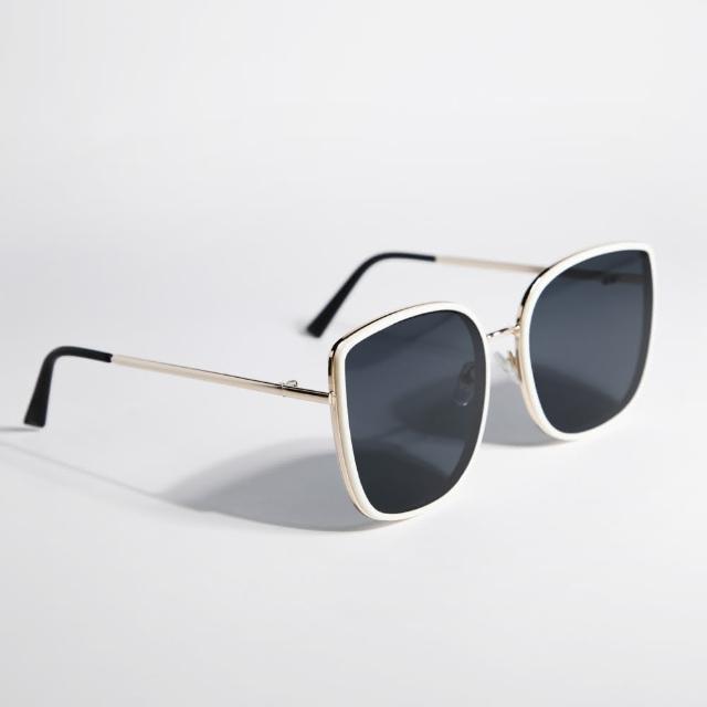 【ZANZAN 冉冉】時尚金屬邊框墨鏡(太陽眼鏡)