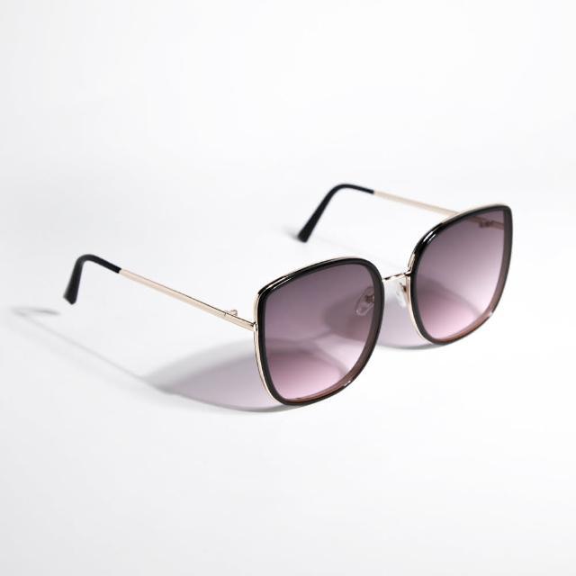 【ZANZAN 冉冉】時髦紫黑框墨鏡(太陽眼鏡)