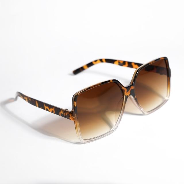 【ZANZAN 冉冉】琥珀紋大地系方框墨鏡(太陽眼鏡)