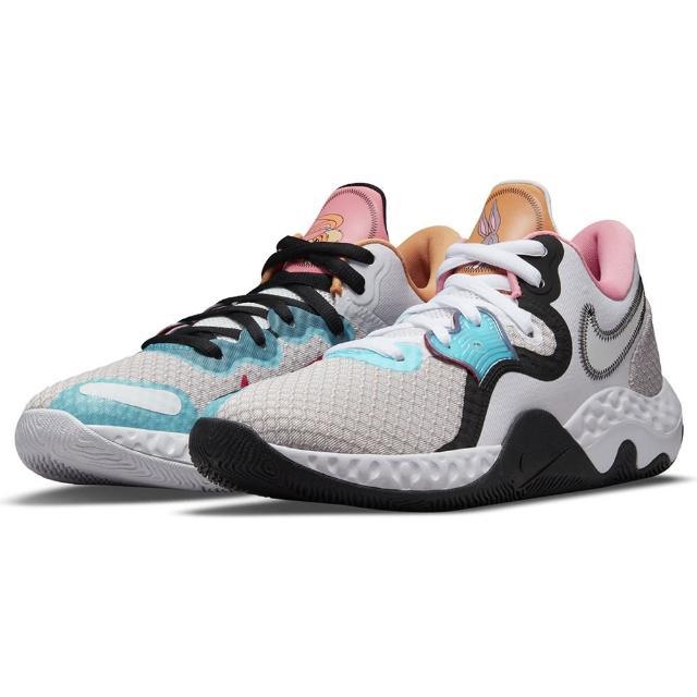 【NIKE 耐吉】籃球鞋 男鞋 女鞋 運動鞋 包覆 緩震 RENEW ELEVATE II 粉紫黑(CW3406505)