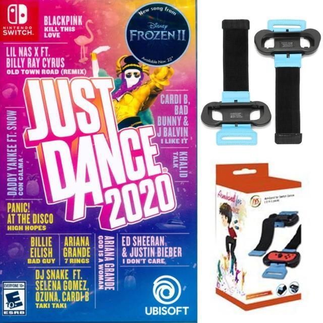 【Nintendo 任天堂】Switch 舞力全開2020+JYS舞力腕帶(國際外盒版 支援中文 拳擊 有氧 體感 臂帶 綁帶)