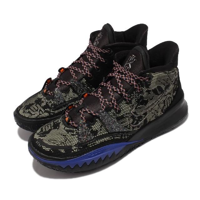 【NIKE 耐吉】籃球鞋 Kyrie 7 EP 明星款 運動 男鞋 Zoom氣墊 避震 支撐 包覆 球鞋 黑 藍(CQ9327-007)