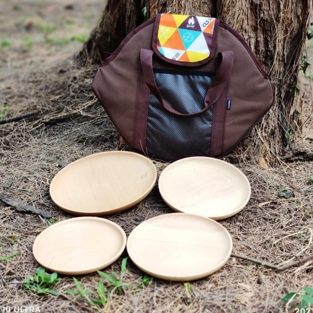 【May shop】原木櫸木 原木圓盤組 4個一組
