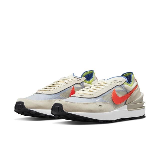 【NIKE 耐吉】慢跑鞋 男鞋 運動鞋 緩震 訓練 男鞋 WAFFLE ONE 米白 DA7995-101
