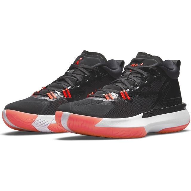 【NIKE 耐吉】籃球鞋 男鞋 運動鞋 包覆 緩震 喬丹 JORDAN ZION 1 PF 黑紅 DA3129-006