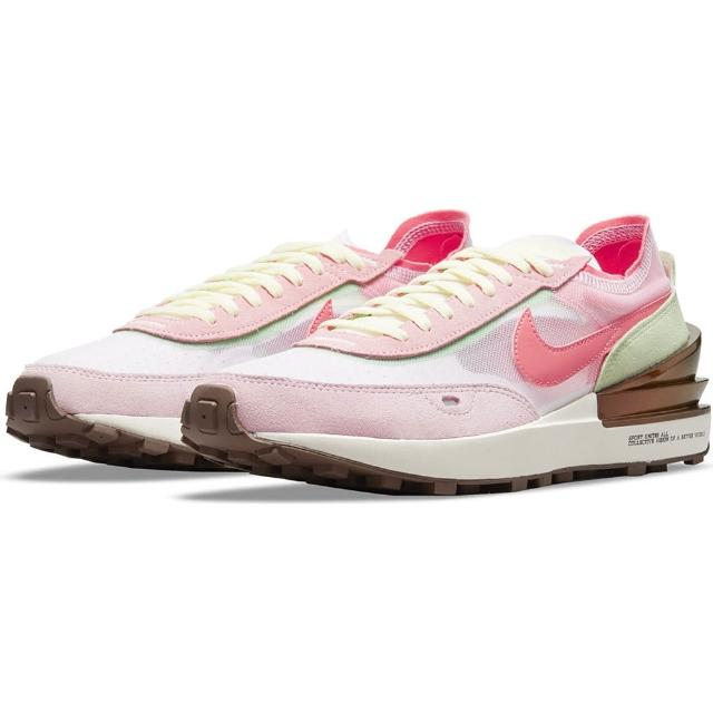 【NIKE 耐吉】慢跑鞋 女鞋 運動鞋 緩震 W WAFFLE ONE 粉 DM5452-161