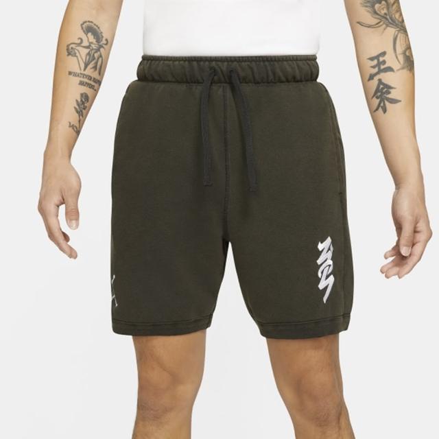 【NIKE 耐吉】短褲 男款 運動短褲 慢跑 健身 AS M J ZION DF FLC SHORT 黑 DH9716-010