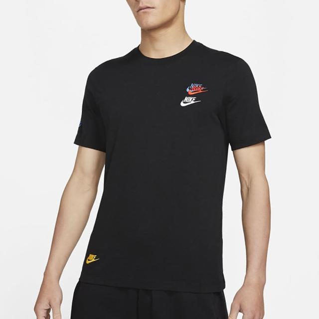 【NIKE 耐吉】上衣 男款 短袖上衣 運動 AS M NSW TEE CLUB ESSENTIALS 黑 DJ1569-010