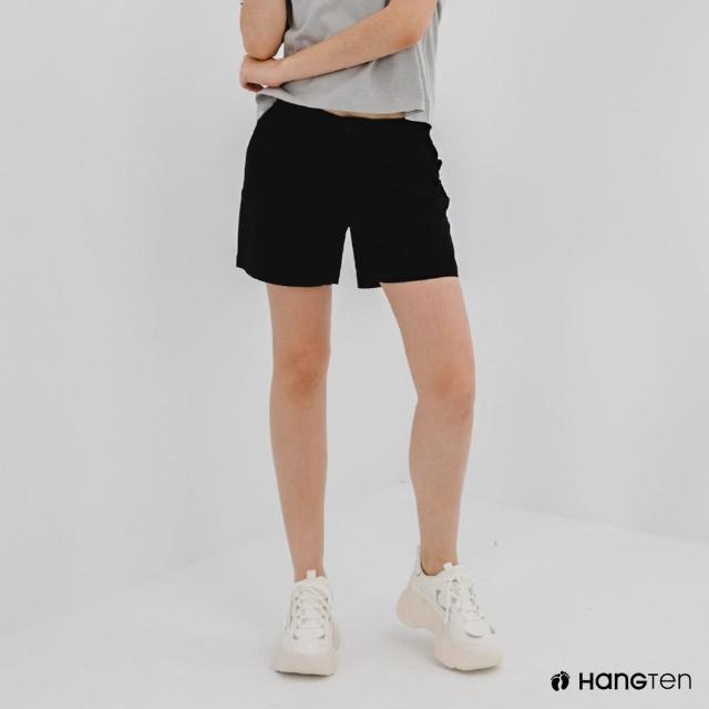 【Hang Ten】女裝-REGULAR FIT經典短褲-黑