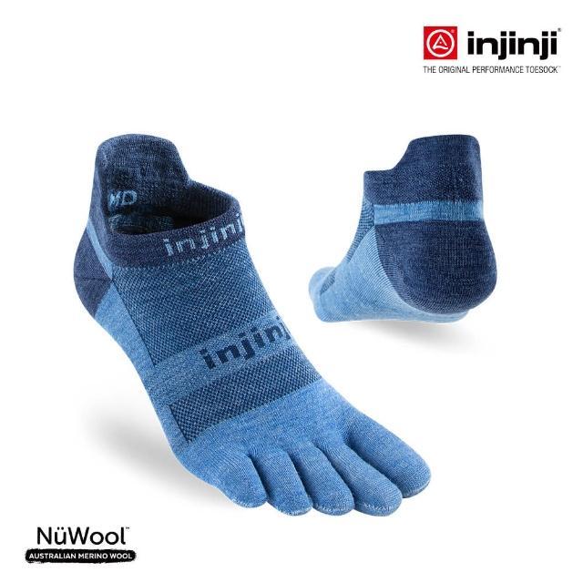 【Injinji】RUN輕量羊毛五趾隱形襪[牛仔藍](輕量款 慢跑 五趾襪 羊毛襪 隱形襪)