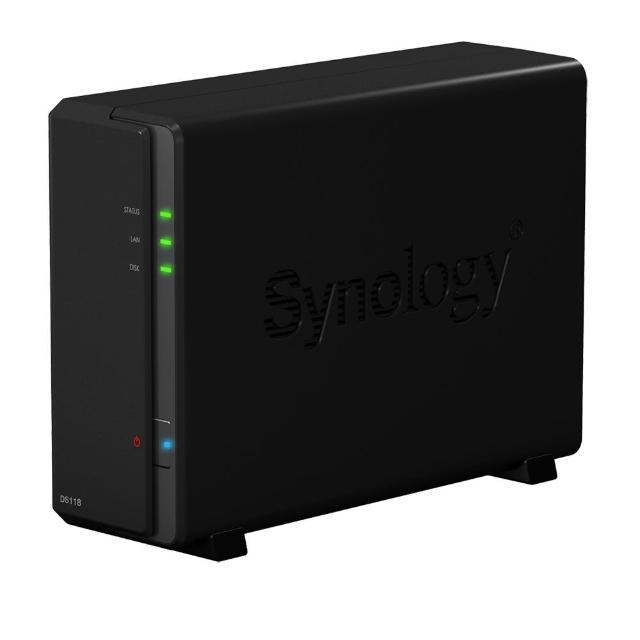【搭WD 紅標 4TB x2】Synology 群暉科技 DS118 1Bay 網路儲存伺服器