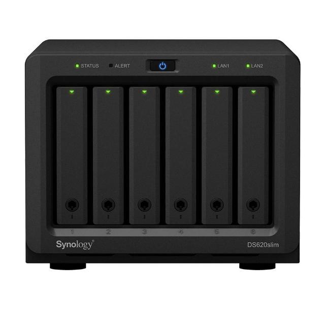 【搭WD 紅標 4TB x2】Synology 群暉科技 DS620Slim 網路儲存伺服器(僅支援2.5吋HDD及SSD)