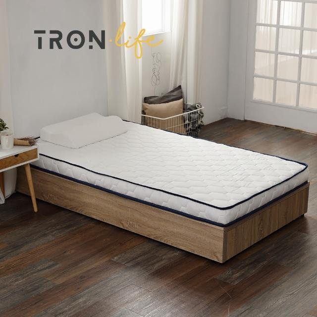 【Tronlife 好床生活】JD01釋壓好眠矮獨立筒雙人加大6尺(好攜好收舊床免丟獨立筒薄墊)