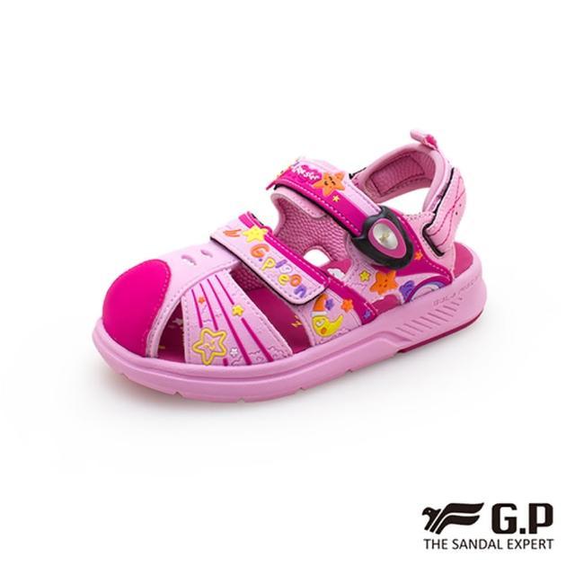 【G.P】童 可拆式兩用護趾包頭涼鞋 童鞋(粉)