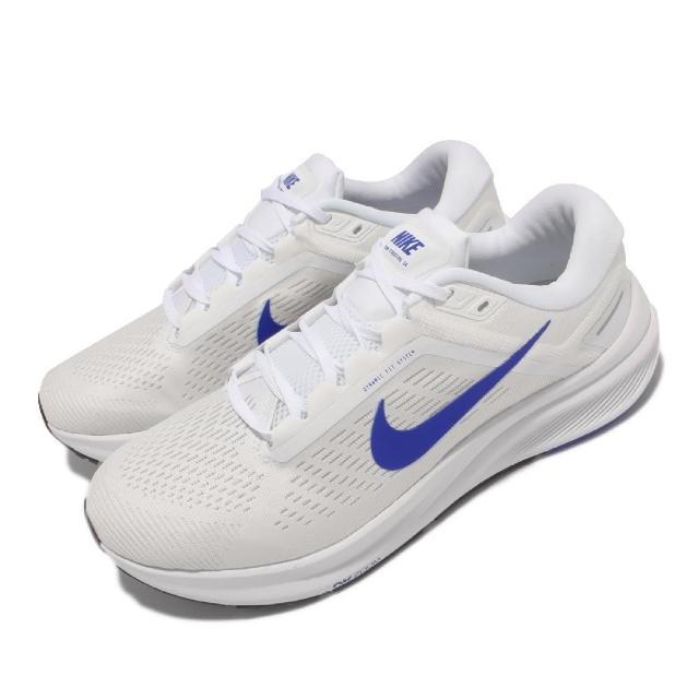 【NIKE 耐吉】慢跑鞋 Zoom Structure 24 女鞋 輕量 透氣 舒適 避震 路跑 健身 白 藍(DA8535-100)
