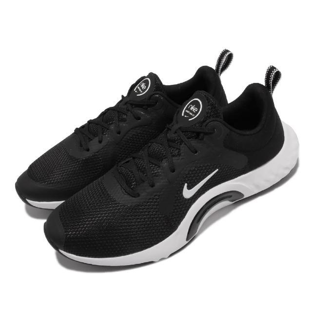 【NIKE 耐吉】訓練鞋 Renew In Season TR 女鞋 寬楦 健身房 支撐 穩定 包覆 球鞋 黑 白(DN5116-004)