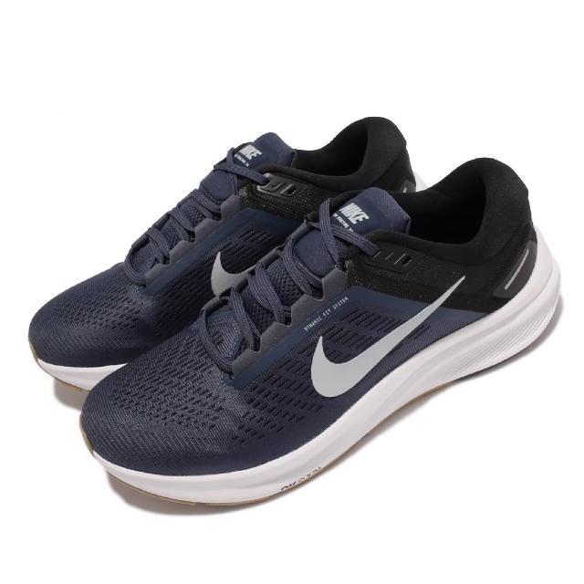 【NIKE 耐吉】慢跑鞋 Zoom Structure 24 男鞋 輕量 透氣 舒適 避震 路跑 健身 藍 白(DA8535-400)