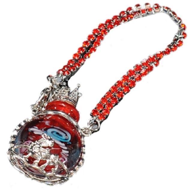 【十方佛教文物】貔貅{紅}香水瓶法寶掛飾