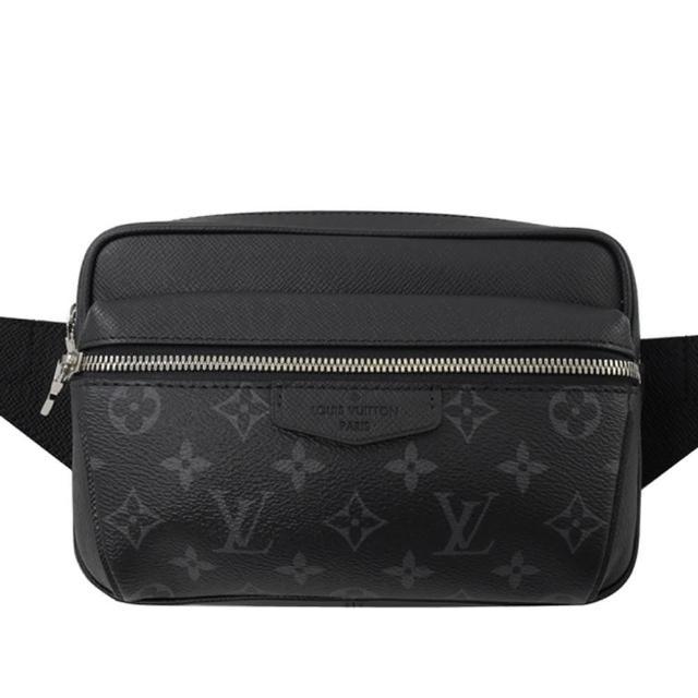【Louis Vuitton 路易威登】LV M30245 OUTDOOR 黑經典花紋腰包胸口包(現貨)