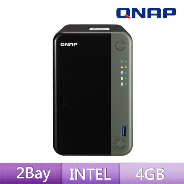 【送8埠 Giga交換器】QNAP 威聯通 TS-253D-4G 2Bay 網路儲存伺服器