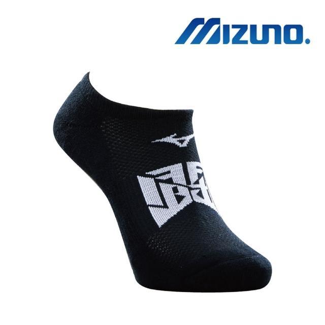【MIZUNO 美津濃】男運動厚底踝襪 黑x白 6雙入(32TX020491Q)