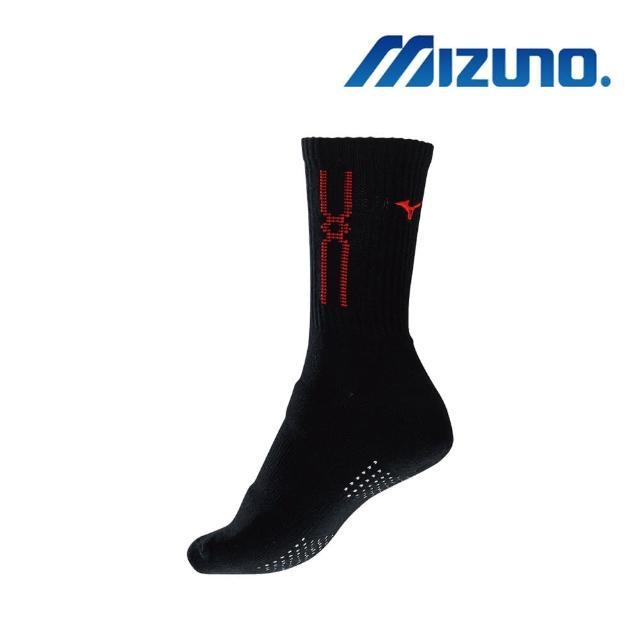 【MIZUNO 美津濃】女運動厚底襪 黑x紅 6雙入(32TX010396Q)