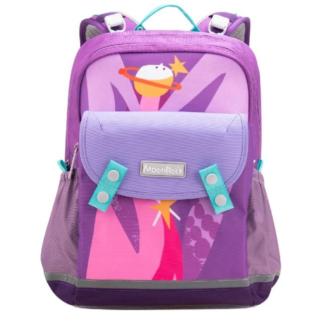 【MoonRock】夢樂書包 SP102 成長型 護脊書包 小天使紫色(20mm厚肩帶背起來超輕鬆)