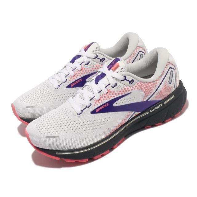 【BROOKS】慢跑鞋 Ghost 14 運動休閒 女鞋 路跑 避震 合腳 穩定 彈力 灰 粉(1203561B192)