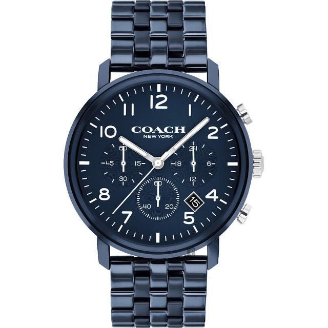 【COACH】三眼計時日曆手錶-42mm(14602530)