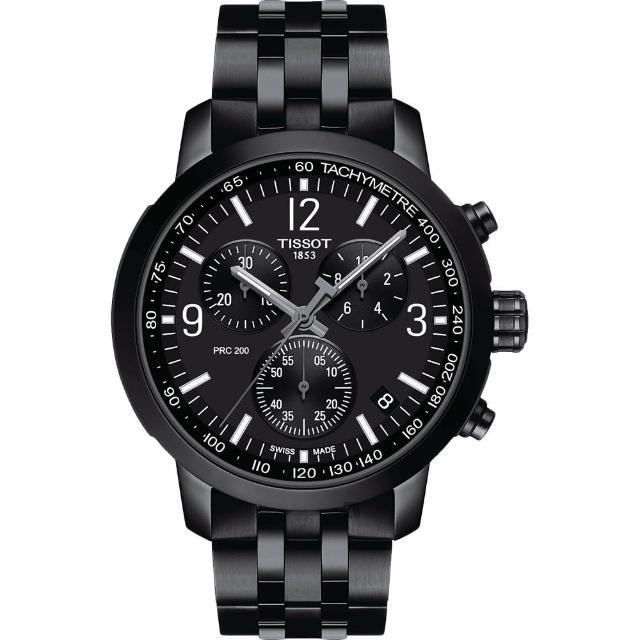 【TISSOT 天梭】T-Sport系列 PRC200 競速三眼計時腕錶(T1144173305700)