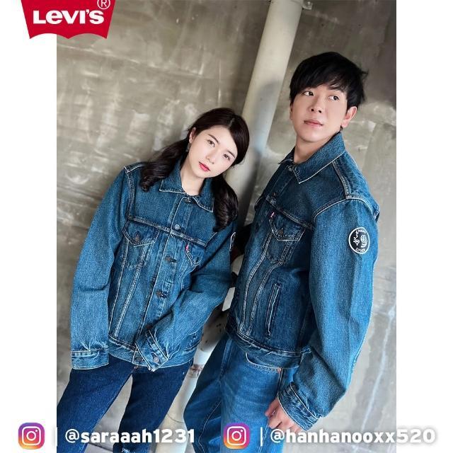 【LEVIS】男款 牛仔外套 / 精工磨損補丁細節 / 寬鬆休閒版型 / 復古水洗-人氣新品