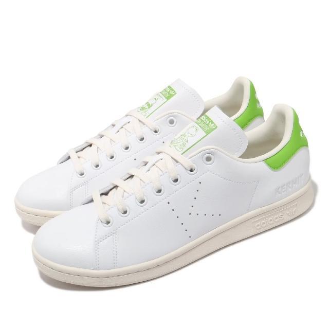 【adidas 愛迪達】休閒鞋 Stan Smith 聯名 運動 男鞋 愛迪達 迪士尼 科米蛙 老人頭 穿搭 白 綠(FY5460)
