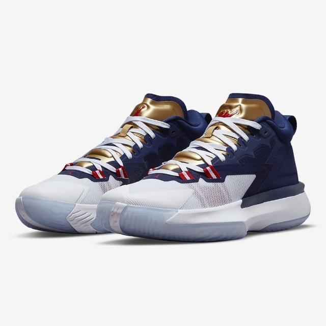 【NIKE 耐吉】籃球鞋 男鞋 運動鞋 喬丹 包覆 緩震 JORDAN ZION 1 PF 藍白 DA3129-401