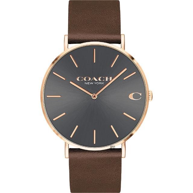 【COACH】經典C字Logo紳士手錶-41mm(14602549)