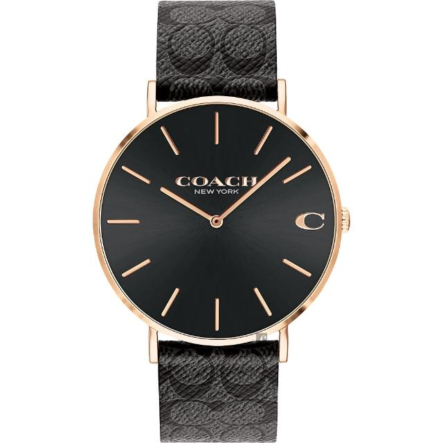 【COACH】經典C字Logo時尚手錶-41mm(14602550)