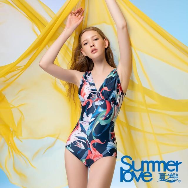 【Summer Love 夏之戀】泳裝 大女連身三角-加大(E21711-05)