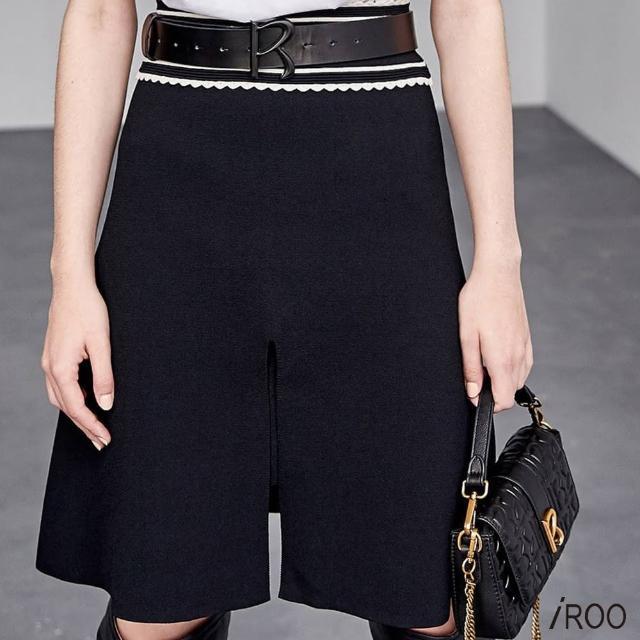【iROO】腰頭配色 針織裙