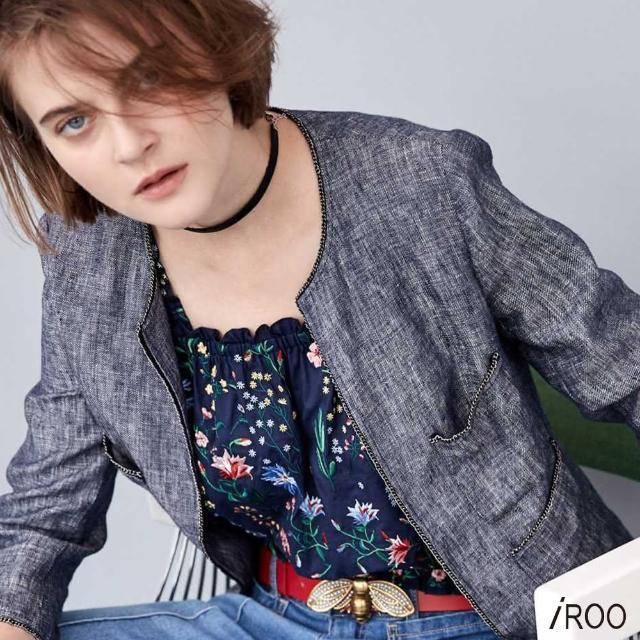 【iROO】滿版刺繡 背心