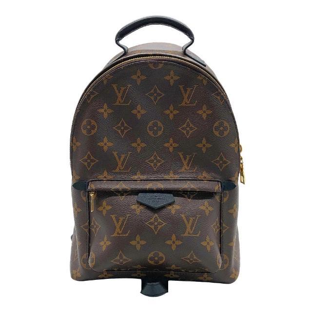 【Louis Vuitton 路易威登】展示品 Palm Springs PM 經典花紋後背包(M44871-咖)