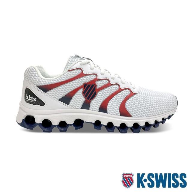 【K-SWISS】輕量訓練鞋 Tubes Comfort 200-男-白/黑/紅(07328-130)