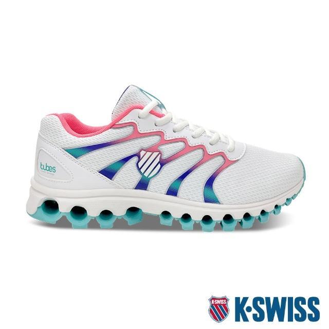【K-SWISS】輕量訓練鞋 Tubes Comfort 200-女-白/桃紅/綠(97328-125)