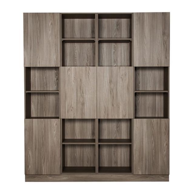 【Arkhouse】伯利恆系列-書房六門二十四格6.6尺四高櫃A款加大W200*H218*D35