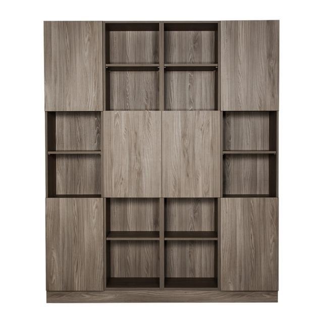 【Arkhouse】伯利恆系列-書房六門二十四格6尺四高櫃A款W180*H218*D35
