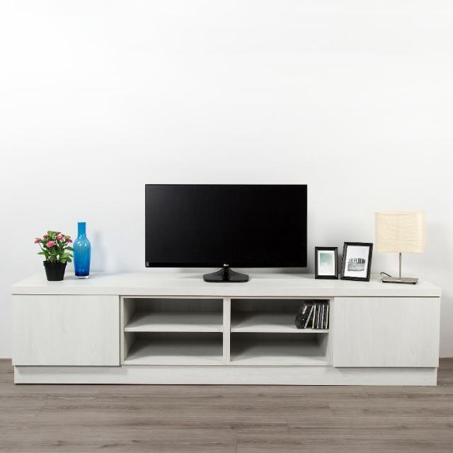 【Arkhouse】伯利恆系列-客廳雙抽四格電視矮櫃W210*H49*D50