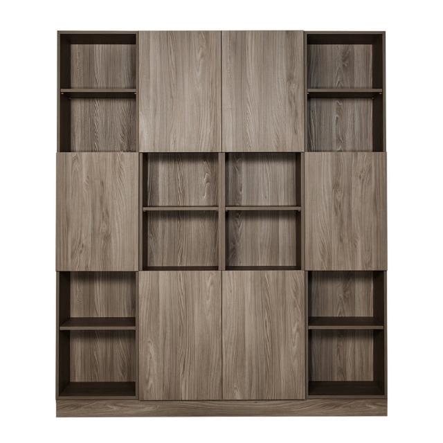【Arkhouse】伯利恆系列-書房六門二十四格6.6尺四高櫃B款加大W200*H218*D35