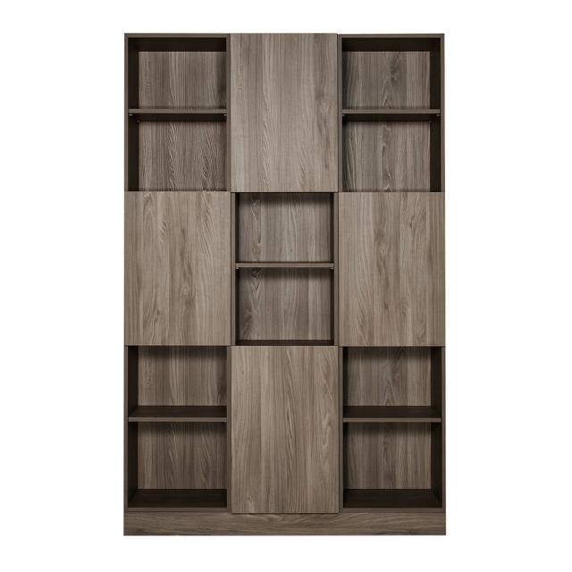 【Arkhouse】伯利恆系列-書房四門十八格5尺三高櫃W150*H218*D35