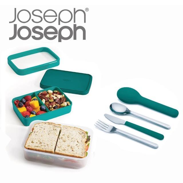 【Joseph Joseph】超值野餐組(翻轉午餐盒+不鏽鋼餐具)