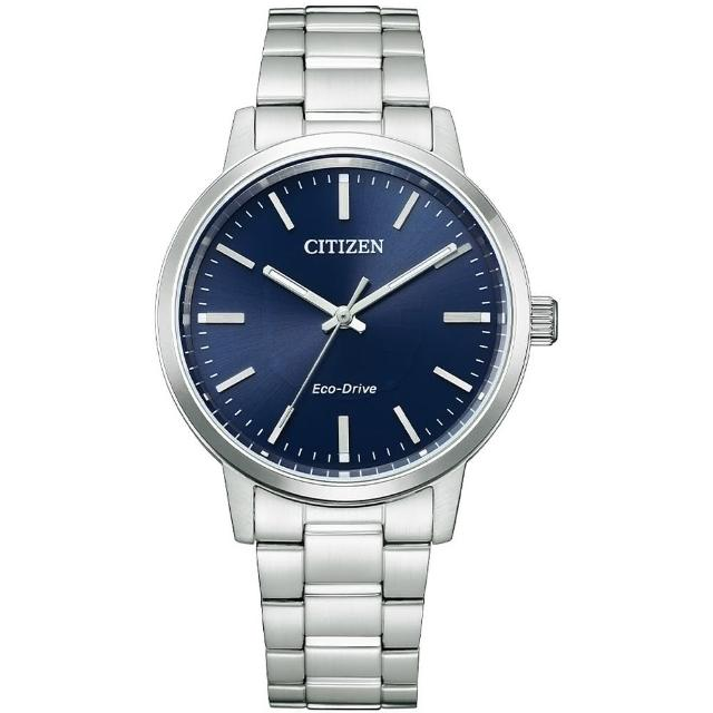 【CITIZEN 星辰】PAIR 對錶強化玻璃鏡面情人鋼帶錶38mm(BJ6541-58L)